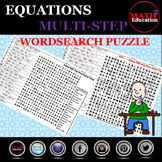 Solving Multi-Step Equations Word Search