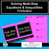 Solving Multi-Step Equations and Inequalities Foldable