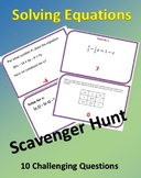 Solving Multi-Step Equations w/Special Cases Scavenger Hun