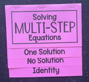 Solving Multi- Step Equations with Special Solutions (Foldable)