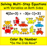 Solving Multi-Step Equations with Variables on Both Sides COLOR BY NUMBER
