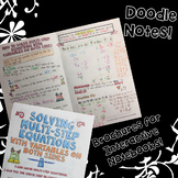 Solving Multi-Step Equations w/Variables on Both Sides - Decorated Note Brochure