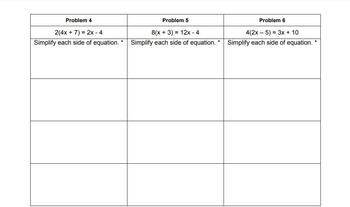 Solving Multi-Step Equations with Variables on Both Sides Graphic Organizer