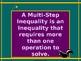 Power-Point:  Solving Multi-Step Inequalities