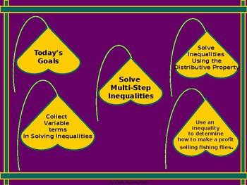 Algebra Power-Point:  Solving Multi-Step Inequalities