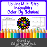 Solving Multi-Step Inequalities Color-By-Number!