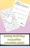 Algebra I Solving Multi-Step Inequalities Coloring Activity
