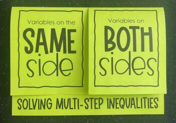Solving Multi- Step Inequalities (Foldable)