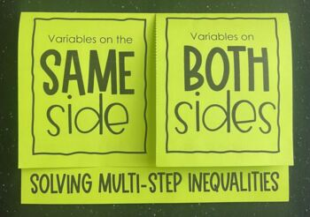 Solving Multi- Step Inequalities (Foldable)