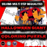 Halloween Algebra Math Activity - Solving Multi-Step Inequalities