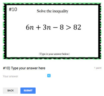 Solving Multi-Step Inequalities - Perfect for Google Classroom!