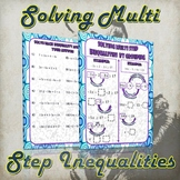 Solving Multi Step Inequalities (Guided Notes and Practice)