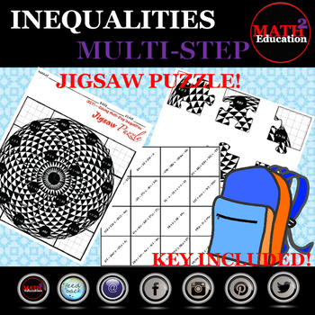 Solving Multi-Step Inequalities Jigsaw Puzzle