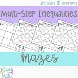 Solving Multi-Step Inequalities Maze