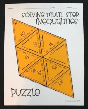 Solving Multi- Step Inequalities (Mini Puzzle)