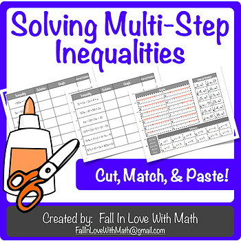 Solving Multi-Step Inequalities Mix-N-Match!