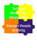Solving Multi-Step Inequalities - Partner Puzzle Activity