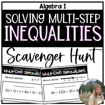 Solving Multi- Step Inequalities (Scavenger Hunt)