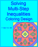 EQUATIONS OR INEQUALITIES: SOLVE MULTI-STEP #3 - COLORING ACTIVITY