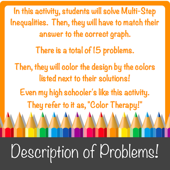 Solving Multi-Step Inequalities with Graphs Color-by-Number!