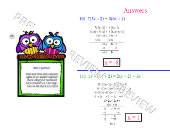 Solving Multi-Step Linear Equations Lesson 1 of 2