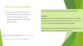 Solving Multi-Step Word Problems