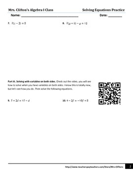 Solving Multi-Step and Var. on Both Sides Equations