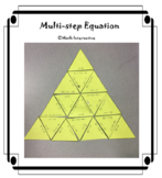 Solving Multi-step Equation in One Variable Tarsia Puzzle