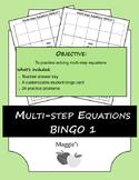 Solving Multi-step Equations BINGO 1