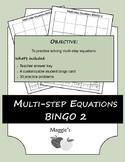 Solving Multi-step Equations BINGO 2