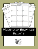 Solving Multi-step Equations Relay 1 (Game)