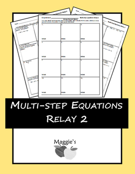 Solving Multi-step Equations Relay 2 (Game)