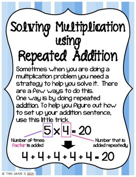 Solving Multiplication - Repeated Addition