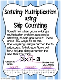 Solving Multiplication - Skip Counting on a Number Line