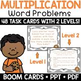 Multiplication Word Problem for 3rd Grade Math Center Task Cards + BOOM Cards