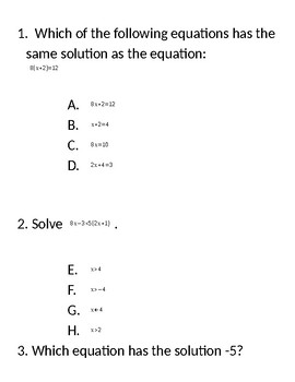 Solving Multistep Equations and Inequalities