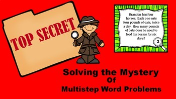 Solving Multistep Word Problems