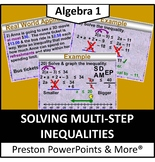 (Alg 1) Solving Multi-Step Inequalities in a PowerPoint Presentation