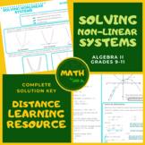 Solving Non-Linear Systems Algebra 2 Lesson +Worksheet +An