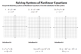 Solving Nonlinear Systems - Circles and Lines