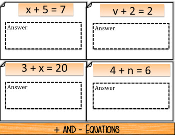 Solving One-Equations (positives only) NOTES & QUIZ (GOOGLE)