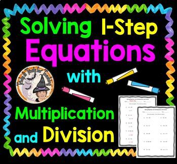 Solving One Step 1-Step Equations with Multiplication and