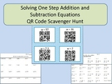 Solving One Step Addition and Subtraction Equations QR Code Scavenger Hunt