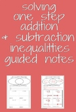 Solving One Step Addition and Subtraction Inequalities Gui