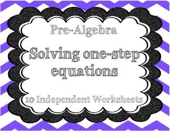 Solving One-Step Algebraic Equations
