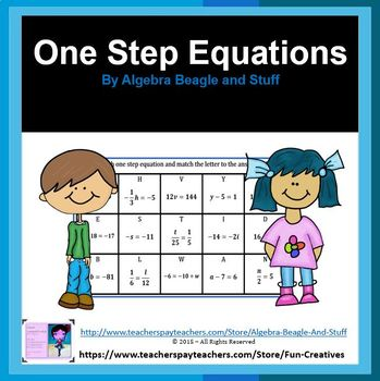 Solving One Step Equations Word Search Activity