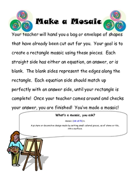 Solving One-Step Equation Fun Activity or Puzzle or Assessment