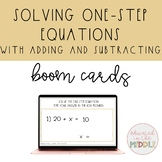 Solving One Step Equation using addition and subtraction B