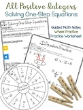 Solving One-Step Equations ALL POSITIVE INTEGERS