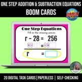 Solving One Step Addition and Subtraction Equations BOOM Cards